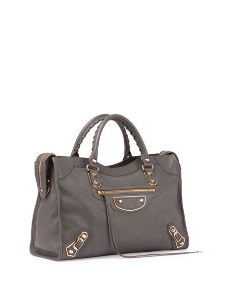 Classic Metallic Edge City Bag