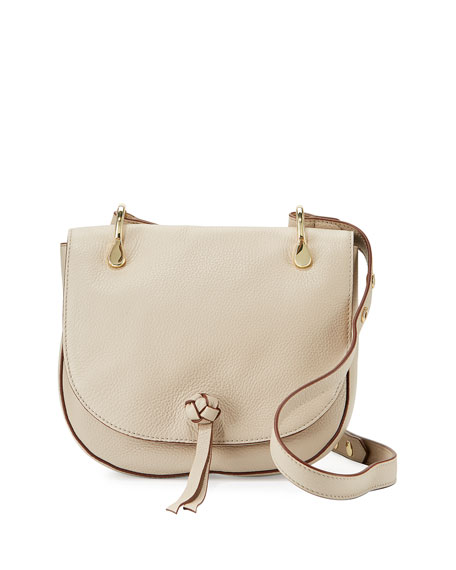 Elizabeth and James Zoe Leather Saddle Bag, Bone
