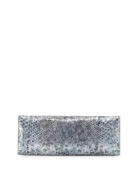 Metallic Python Razor Clutch Bag