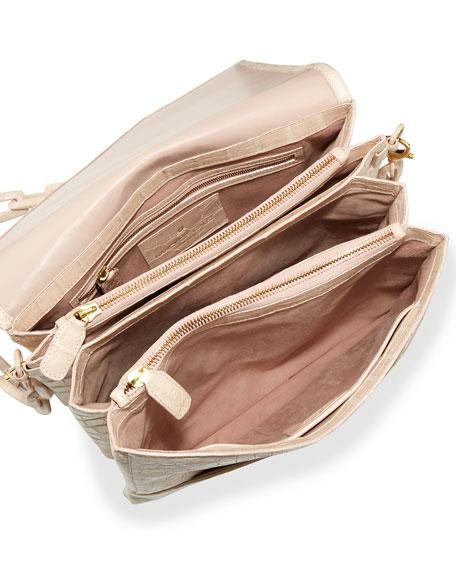 New Origami Crocodile Chain Shoulder Bag