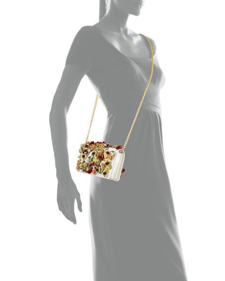 Saffiano Garden Floral Crossbody Bag