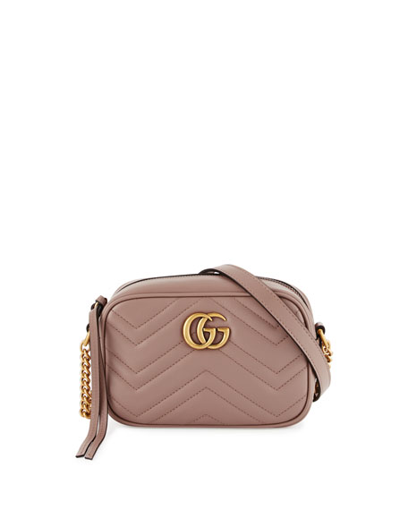 Gucci GG Marmont Mini Matelassé Camera Bag, Nude