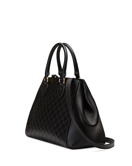 Gucci Signature Top-Handle Tote Bag