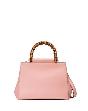 9f8f192e43e7 Gucci Nymphea Small Bamboo-Handle Tote Bag