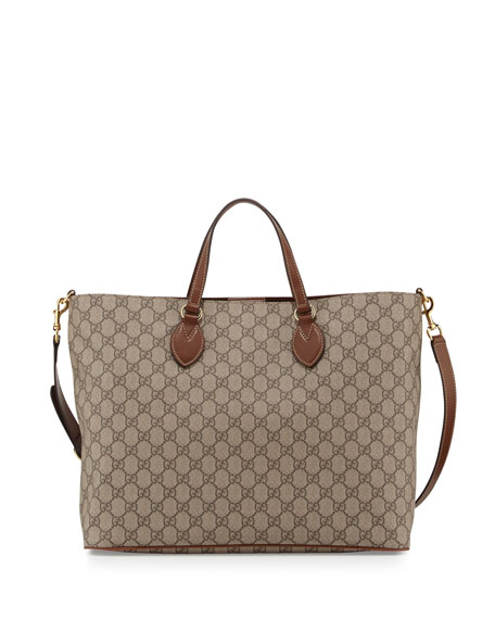 Gucci Bestiary GG Supreme Medium Top-Handle Tote Bag