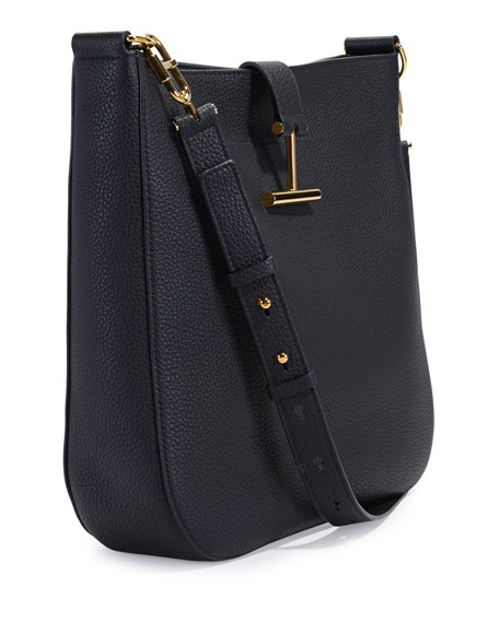 Grained Leather Tara Hobo Bag