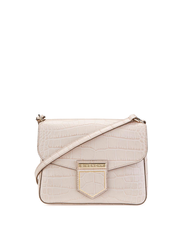 Givenchy Nobile Mini Crocodile-Embossed Shoulder Bag  731281a5a8fe8