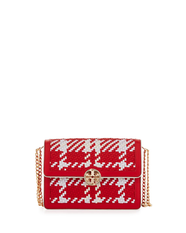 3124dd31d03 Tory Burch Duet Chain Woven Convertible Shoulder Bag