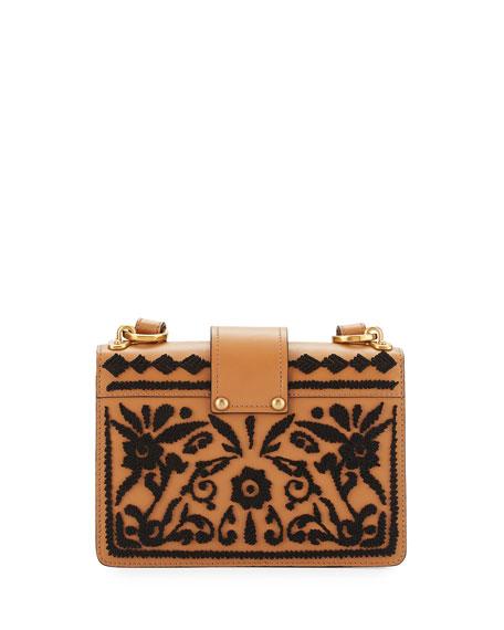 Cahier Embroidered Shoulder Bag