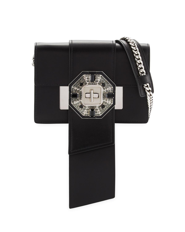 cf83c37c1d9383 Prada Jewels Ribbon Flap Shoulder Bag, Black (Nero) | Neiman Marcus