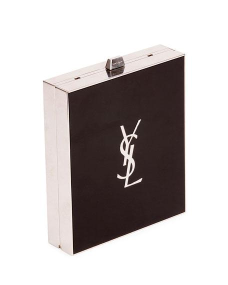 Tuxedo Box Minaudiere, Black/Silver