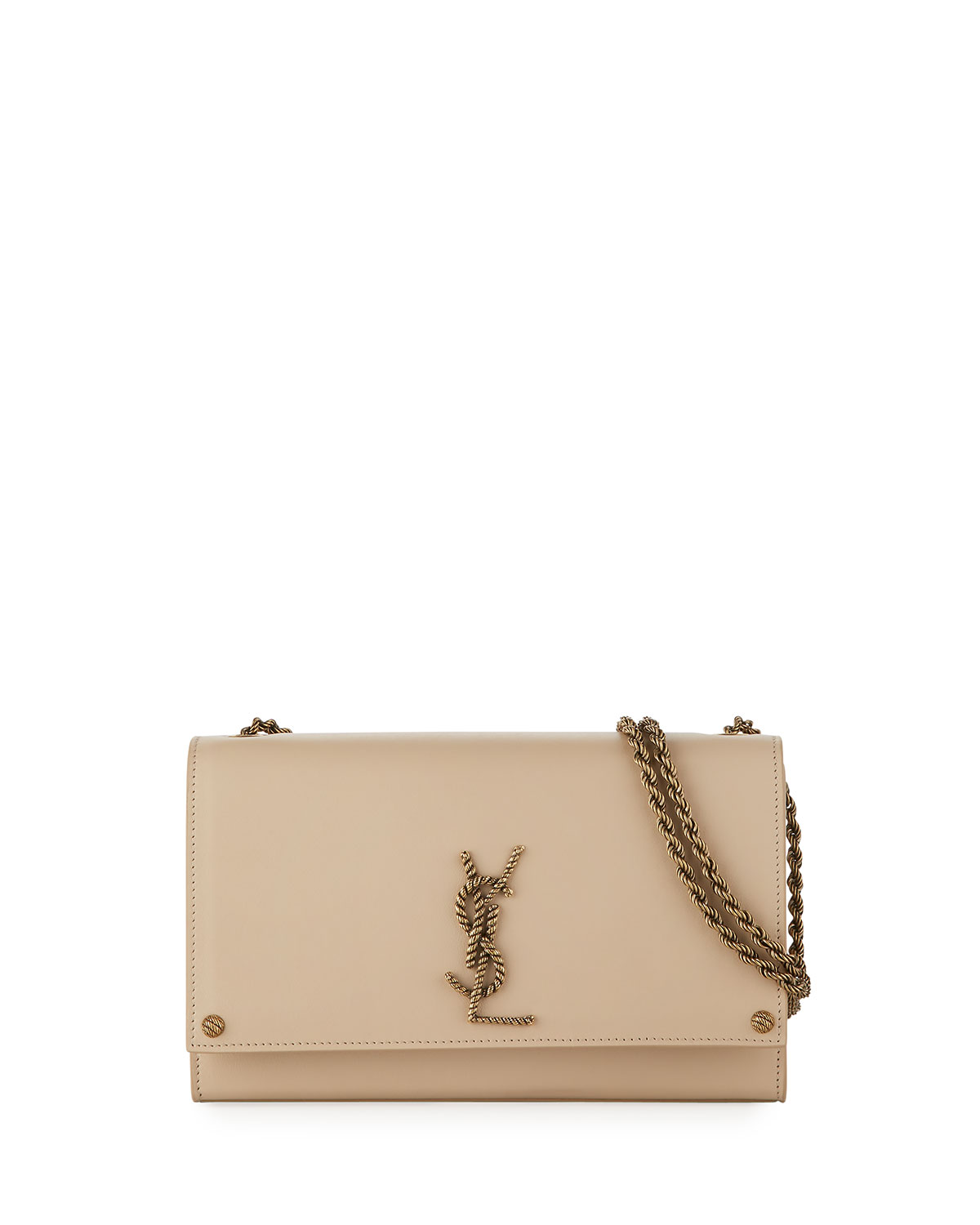 f643b260f7 Saint Laurent Kate Medium Rope-Logo Flap Bag