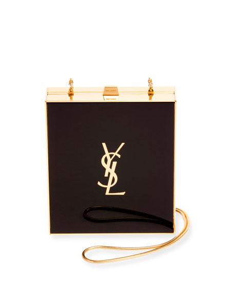 Tuxedo Box Minaudiere, Black/Gold