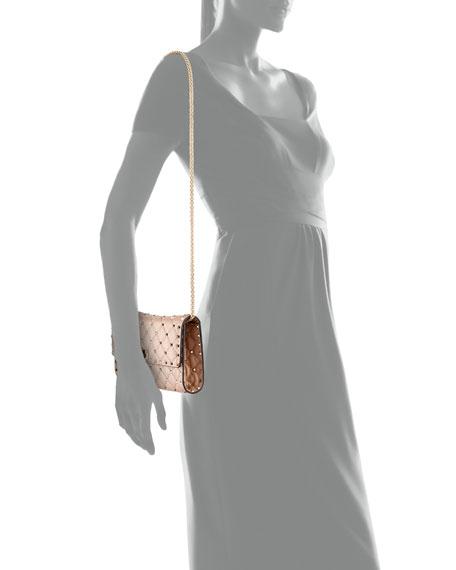 Quilted Rockstud Spike Chain Shoulder Bag