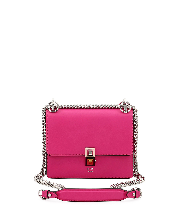 3bf73b432b Fendi Kan I Mini Studded Shoulder Bag | Neiman Marcus