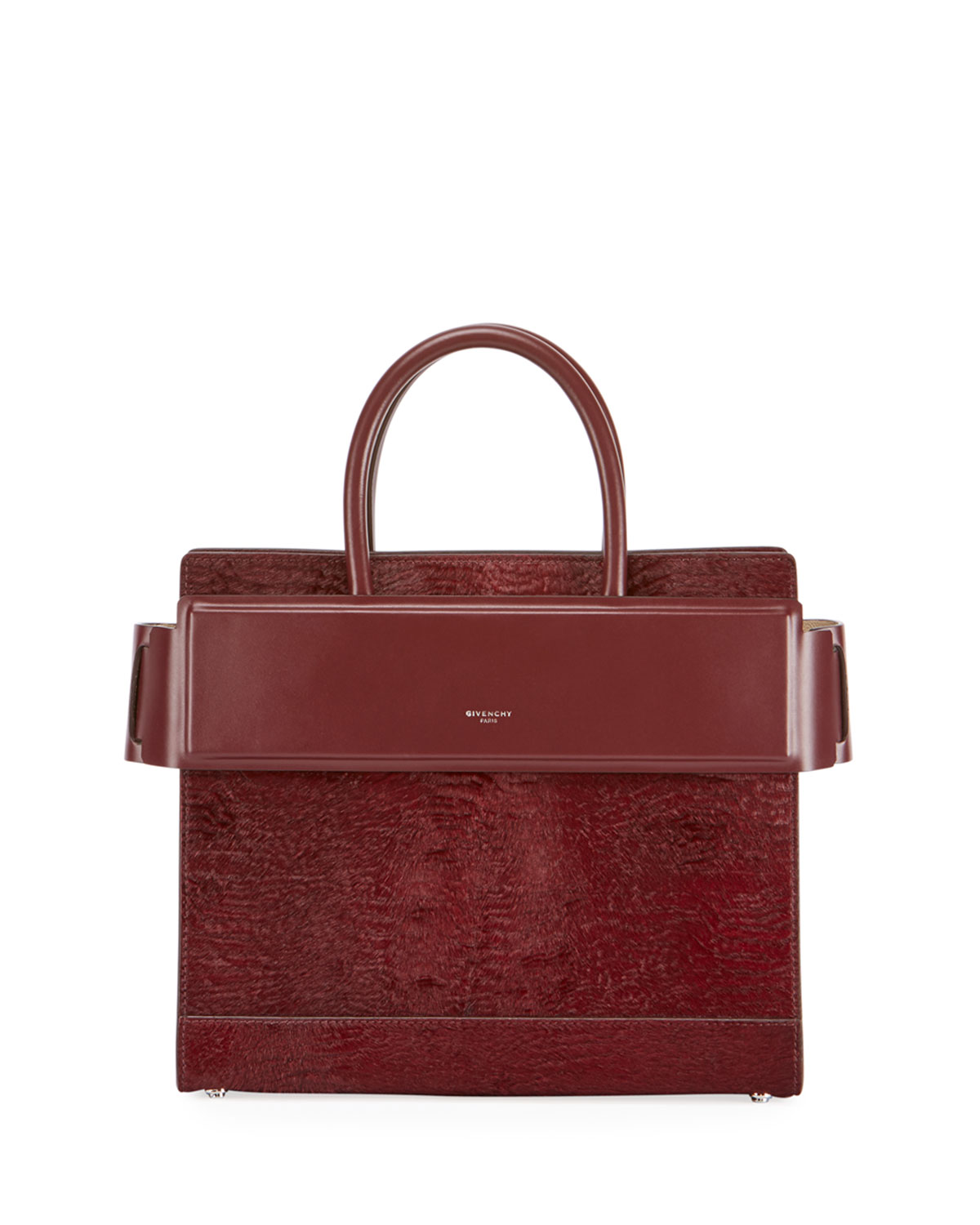 4aa531170f Givenchy Horizon Small Astrakhan-Embossed Leather Satchel Bag