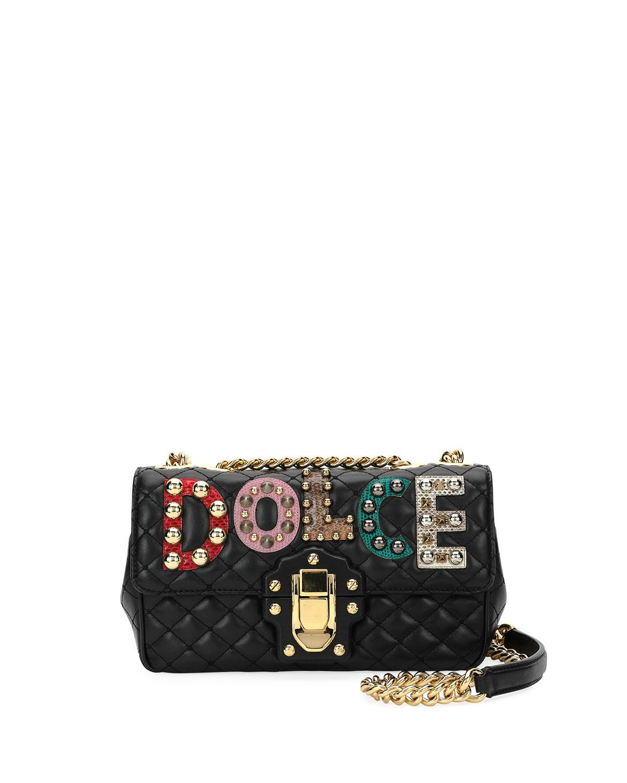 Dolce   Gabbana Lucia Dolce Embellished Shoulder Bag  5bc19c8b35f3c
