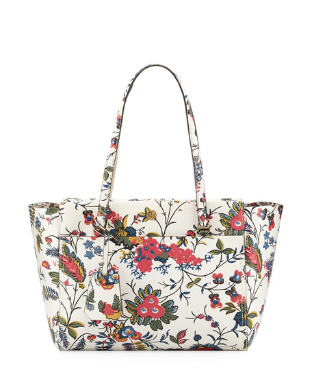 Tory Burch Parker Small Floral Print Tote Bag Neiman Marcus