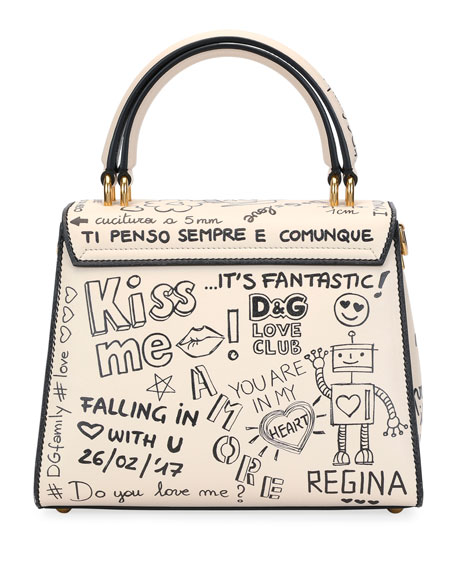 Welcome Amore Graffiti Medium Handbag