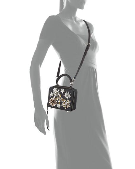 Jewel Box Leather Crossbody Bag