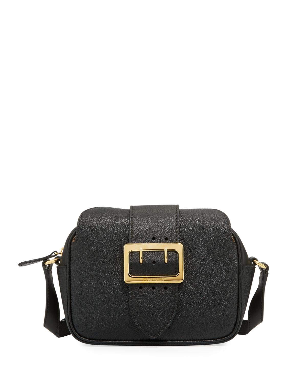 4680713af62 Burberry Small Soft Grain Leather Buckle Crossbody Bag, Black ...