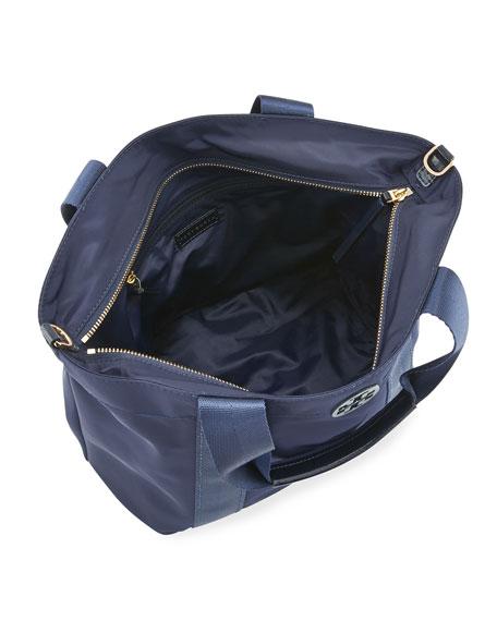 Quinn Small Zip-Top Nylon Tote Bag