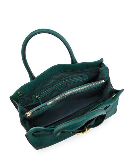 Gemini-Link Pebbled Leather Tote Bag