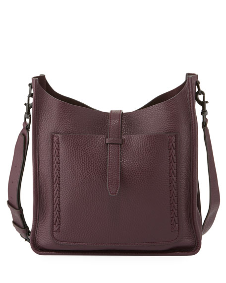 Whipstitch Unlined Hobo Bag