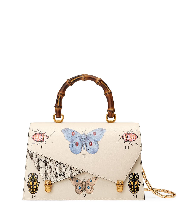 863457f06b2995 Gucci Ottilia Medium Bamboo Top Handle Bag | Neiman Marcus
