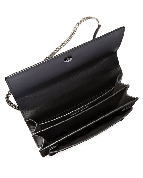 Sunset Monogram Medium Heart Studded Shoulder Bag