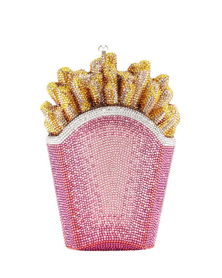 Judith Leiber Couture French Fries Rainbow Clutch Bag