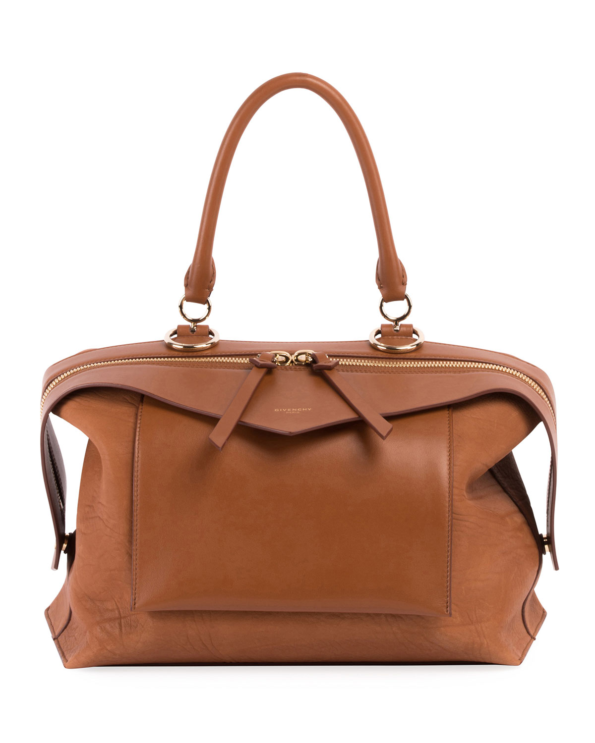 12aaf3fb5b95 Givenchy Sway Small Leather Top-Handle Bag