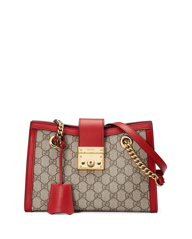 d28ae072c55b Gucci Padlock Small GG Supreme Canvas Shoulder Bag | Neiman Marcus