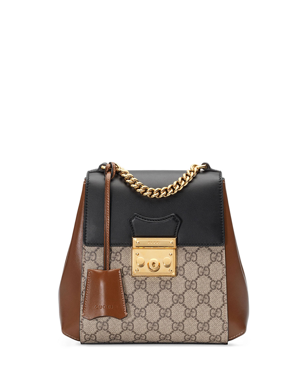 d92f56fa57f8 Gucci Padlock GG Supreme Canvas Backpack | Neiman Marcus