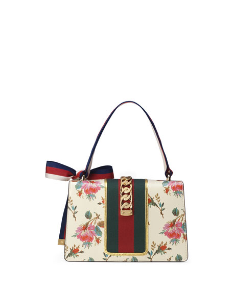 Sylvie Small Rose Floral Leather Shoulder Bag