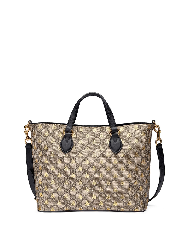 ae5226e70 Gucci Bestiary GG Supreme Tote Bag | Neiman Marcus