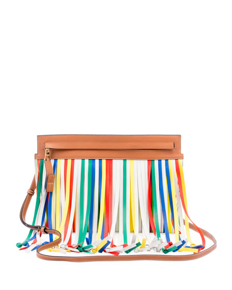 T Pouch Fringes Crossbody Bag