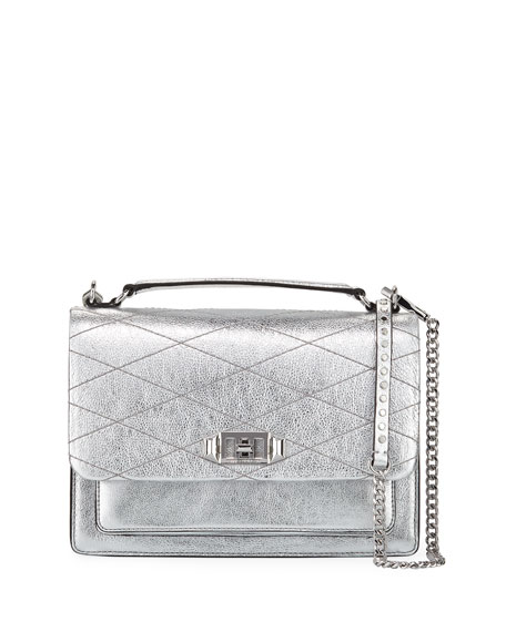Rebecca Minkoff Je Taime Medium Metallic Crossbody Bag