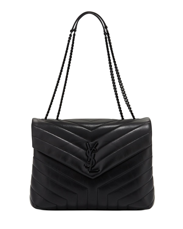 c18b0579 Loulou Monogram Medium Chain Bag with Black Hardware