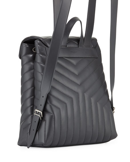 e195c185d28 Image 3 of 3: Saint Laurent Loulou Monogram YSL Medium Quilted Leather  Backpack