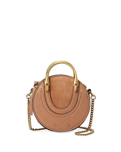 Chloe Pixie Mini Leather/Suede Crossbody Bag