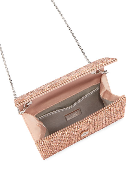 Crystal-Embellished Crossbody