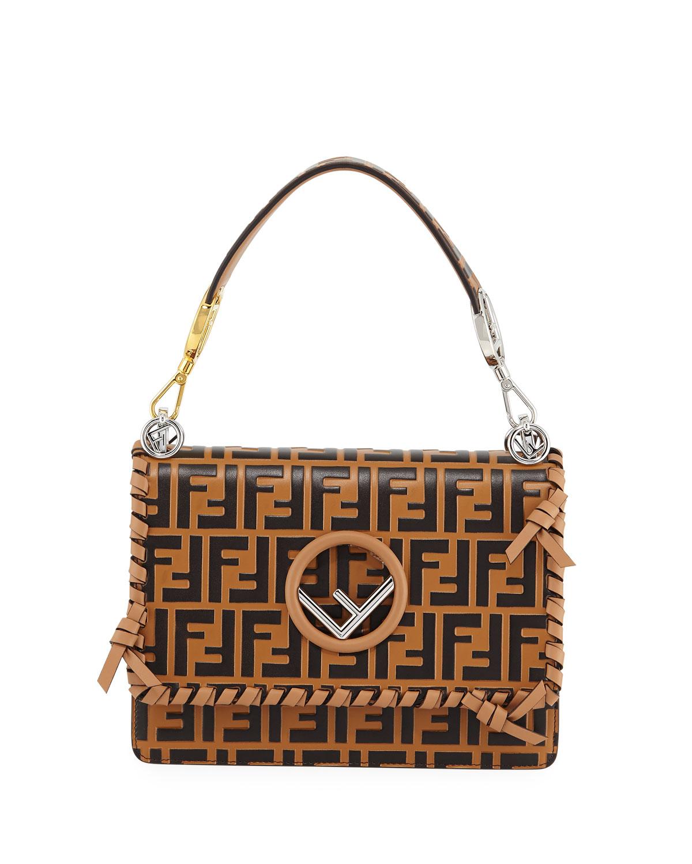 ad33ca759b9d Fendi Kan I Medium FF Calf Shoulder Bag