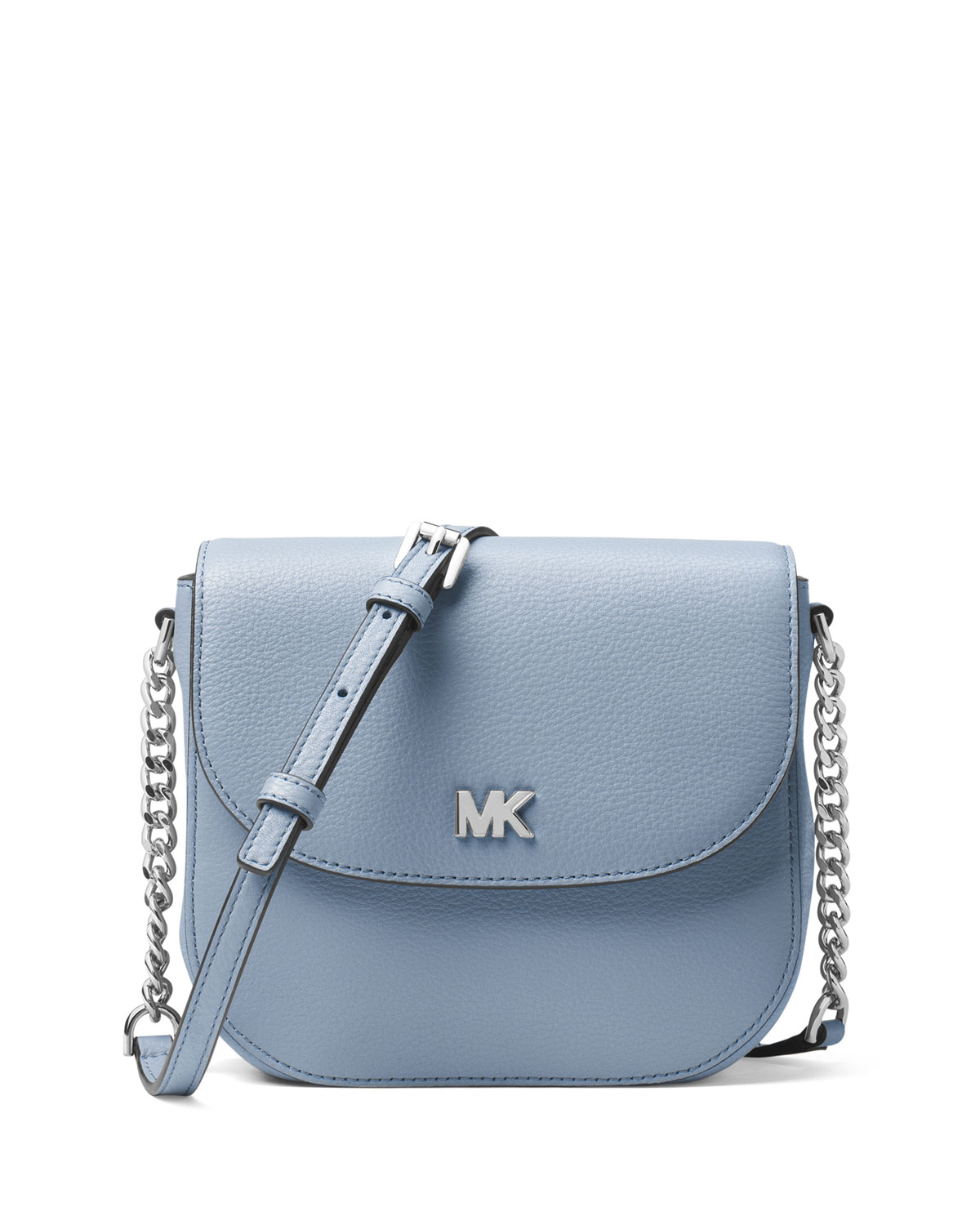 c87f86a1208e7b MICHAEL Michael Kors Half-Dome Leather Crossbody Bag - Silver Hardware