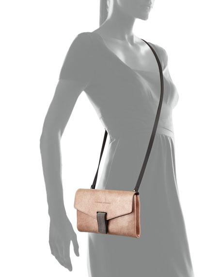 Brunello Cucinelli Mini City Leather Crossbody Bag