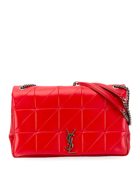 Image 1 of 3: Jamie Medium Diamond-Quilted Double-Chain Shoulder Bag