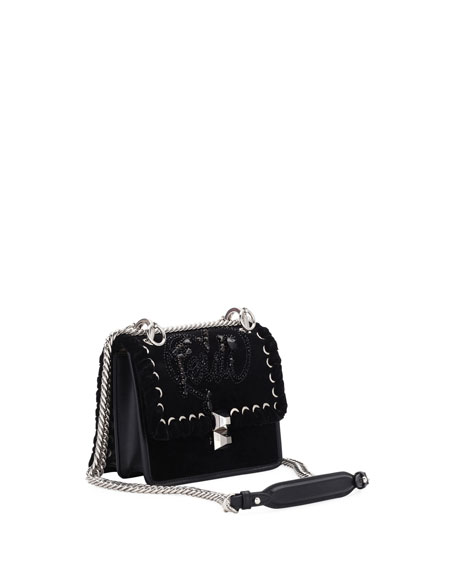 Fendi Kan I Small Velvet Shoulder Bag