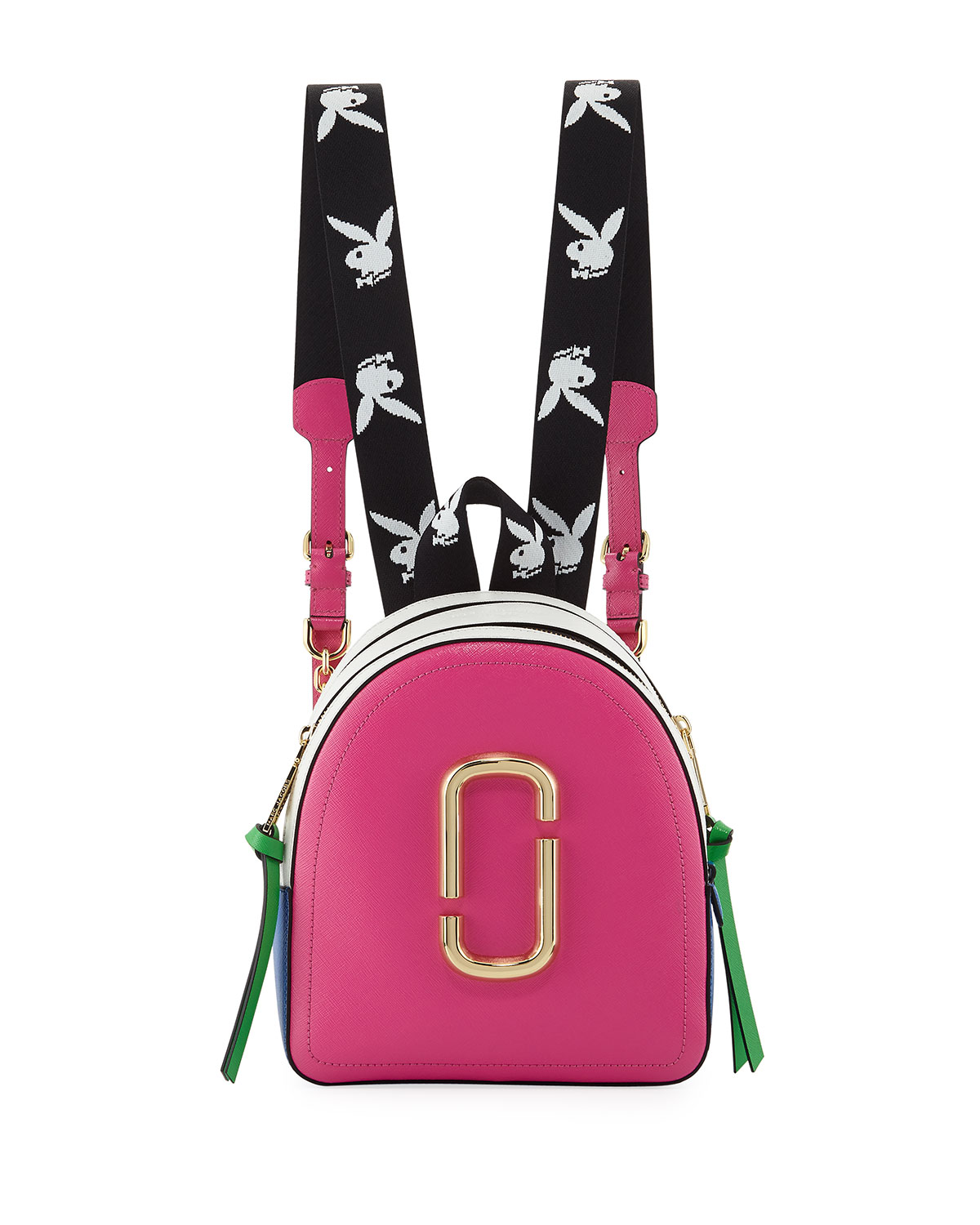 ae2c09c381 Marc Jacobs Playboy Bunny Colorblock Leather Backpack | Neiman Marcus