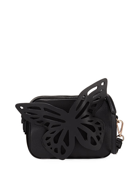 Sophia Webster Flossy Butterfly Camera Crossbody Bag, Black