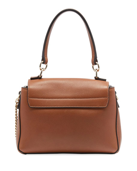 Faye Daye Mini Leather/Suede Shoulder Bag